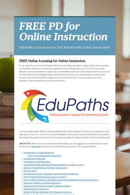 FREE PD for Online Instruction