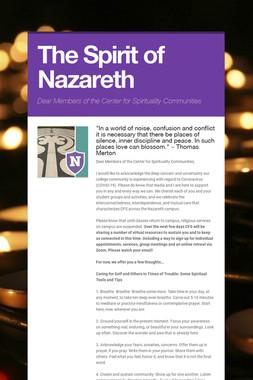 The Spirit of Nazareth