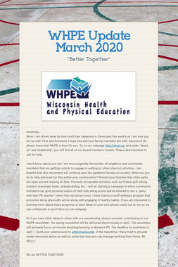 WHPE  Update March 2020