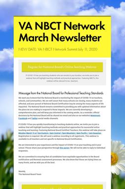 VA NBCT Network March Newsletter