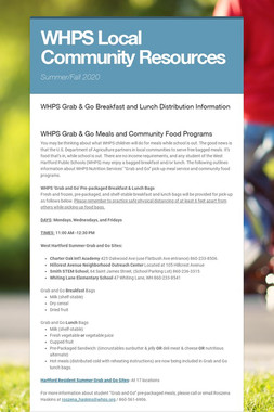 WHPS Local Community Resources
