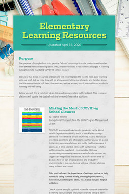Elementary Learning Resources