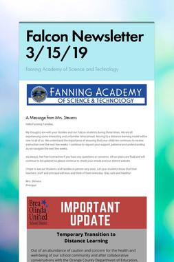 Falcon Newsletter 3/15/19