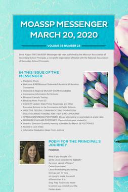 MoASSP Messenger March 20, 2020