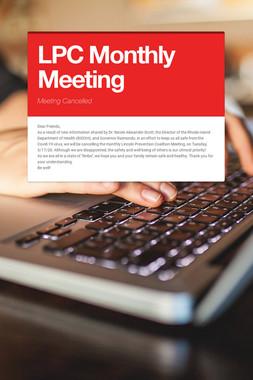 LPC Monthly Meeting