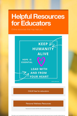 Helpful Resources for Educators