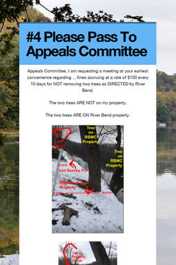 #4 Please Pass To Appeals Committee