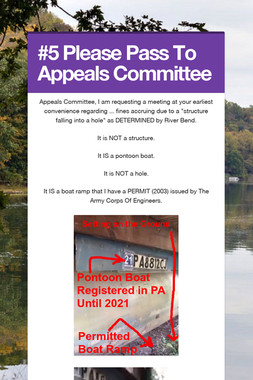 #5 Please Pass To Appeals Committee