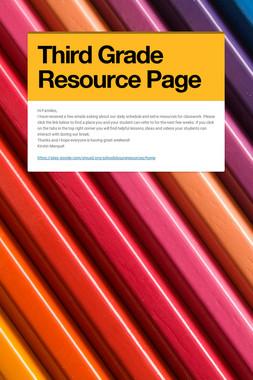 Third Grade Resource Page