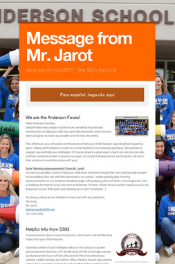 Message from Mr. Jarot