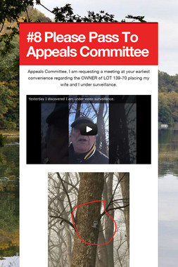 #8 Please Pass To Appeals Committee