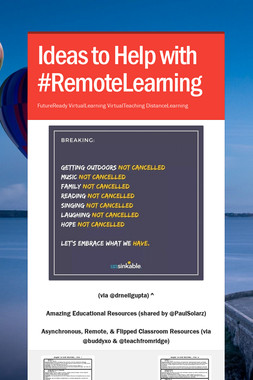 Ideas to Help with #RemoteLearning