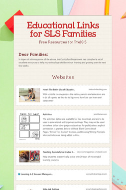 Educational Links for SLS Families