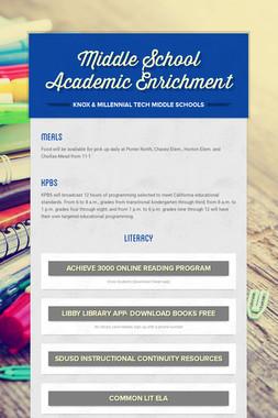 Middle School Academic Enrichment