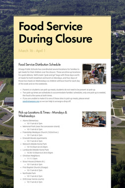 Food Service During Closure