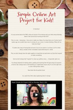 Simple Online Art Project for Kids!