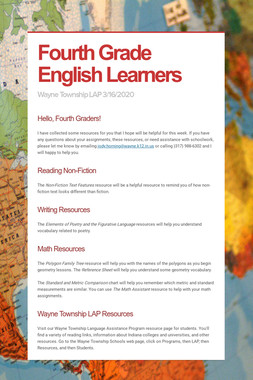Fourth Grade English Learners