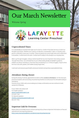 Our March Newsletter