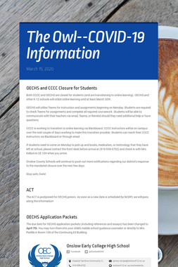 The Owl--COVID-19 Information