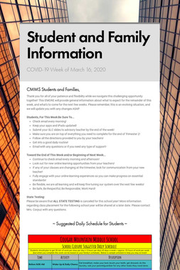 Student and Family Information