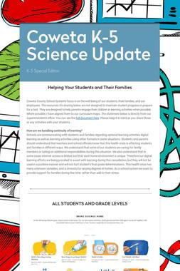 Coweta K-5 Science Update