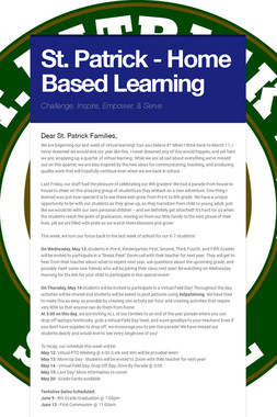 St. Patrick - Home Based Learning