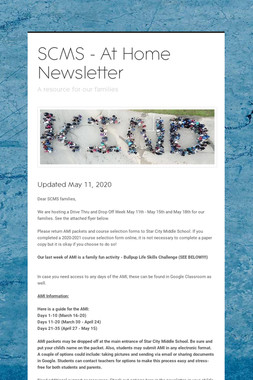 SCMS - At Home Newsletter