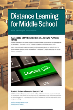 Distance Learning for Middle School