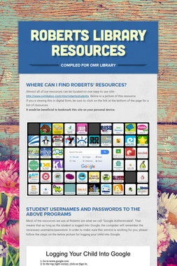Roberts Library Resources