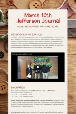 March 16th Jefferson Journal