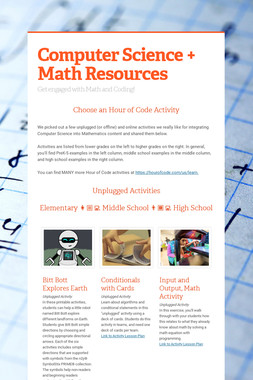 Computer Science + Math Resources
