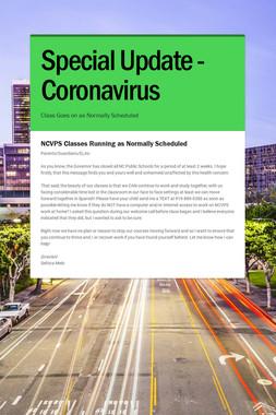 Special Update - Coronavirus