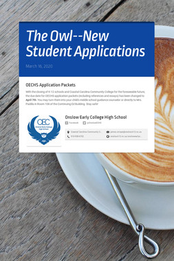 The Owl--New Student Applications