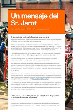 Un mensaje del Sr. Jarot