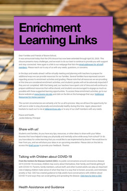 Enrichment Learning Links