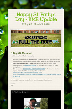 Happy St. Patty's Day - BME Update