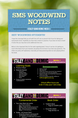 SMS Woodwind Notes