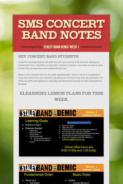 SMS Concert Band Notes