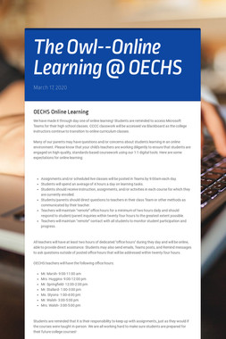 The Owl--Online Learning @ OECHS