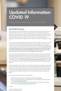 Updated Information COVID 19