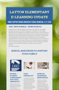Layton Elementary E-Learning Update