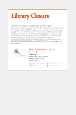 Library Closure