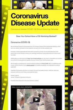 Coronavirus Disease Update