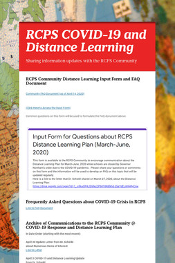 RCPS COVID-19 and Distance Learning