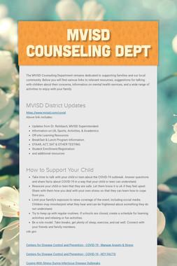 MVISD Counseling Dept