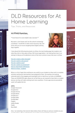 DLD Resources for At Home Learning