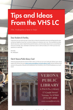 Tips and Ideas From the VHS LC