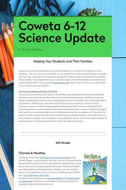 Coweta 6-12 Science Update