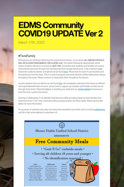 EDMS Community COVID19 UPDATE Ver 2