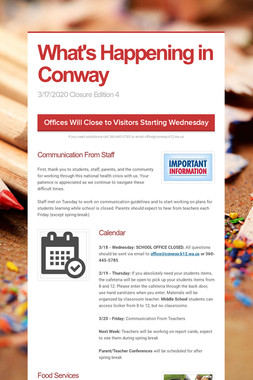 What's Happening in Conway